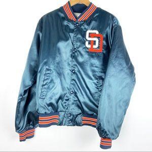Vintage SAN DIEGO PADRES satin jacket Medium o615